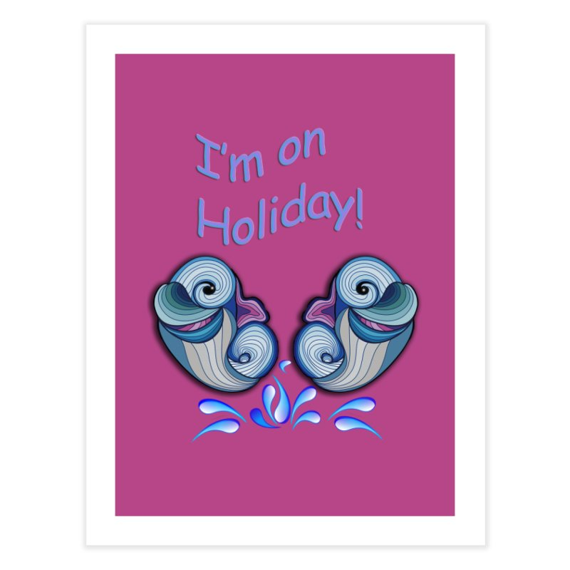 I'm on Holiday Home Bath Mat by NadineMay Artist Shop