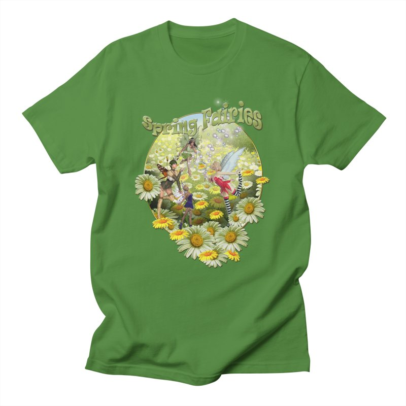 Spring Has Arrived in Men's Regular T-Shirt Clover by NadineMay Artist Shop