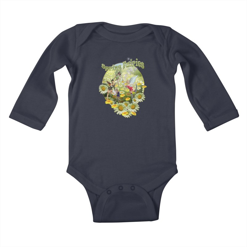 Spring Has Arrived Kids Baby Longsleeve Bodysuit by justkidding's Artist Shop