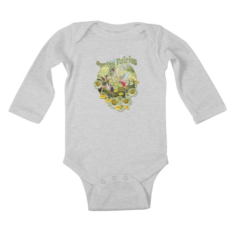 Spring Has Arrived Kids Baby Longsleeve Bodysuit by NadineMay Artist Shop