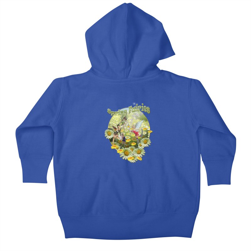 Spring Has Arrived Kids Baby Zip-Up Hoody by NadineMay Artist Shop