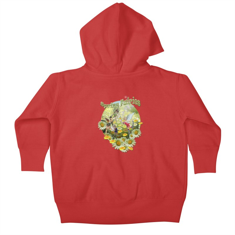 Spring Has Arrived Kids Baby Zip-Up Hoody by justkidding's Artist Shop