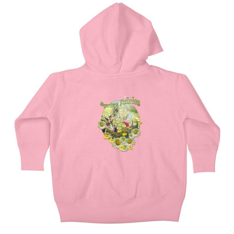 Spring Has Arrived Kids Baby Zip-Up Hoody by NadineMay Artist Shop
