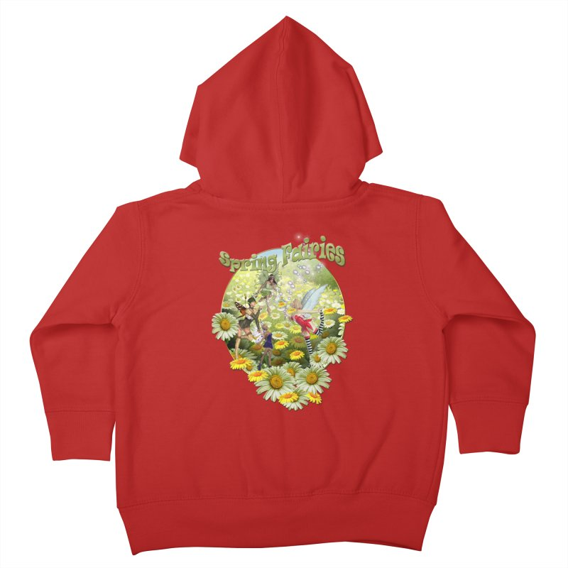 Spring Has Arrived Kids Toddler Zip-Up Hoody by justkidding's Artist Shop