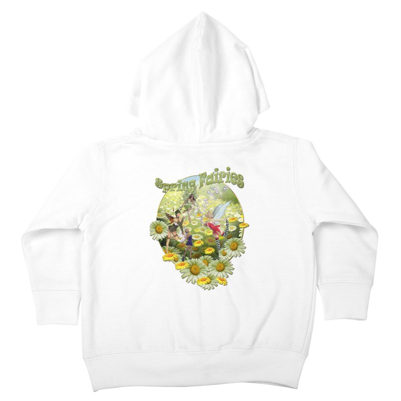 Spring Has Arrived Kids Toddler Zip-Up Hoody by NadineMay Artist Shop