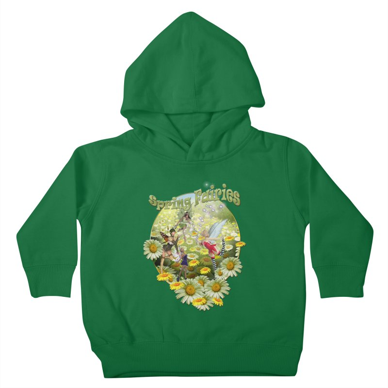 Spring Has Arrived Kids Toddler Pullover Hoody by NadineMay Artist Shop