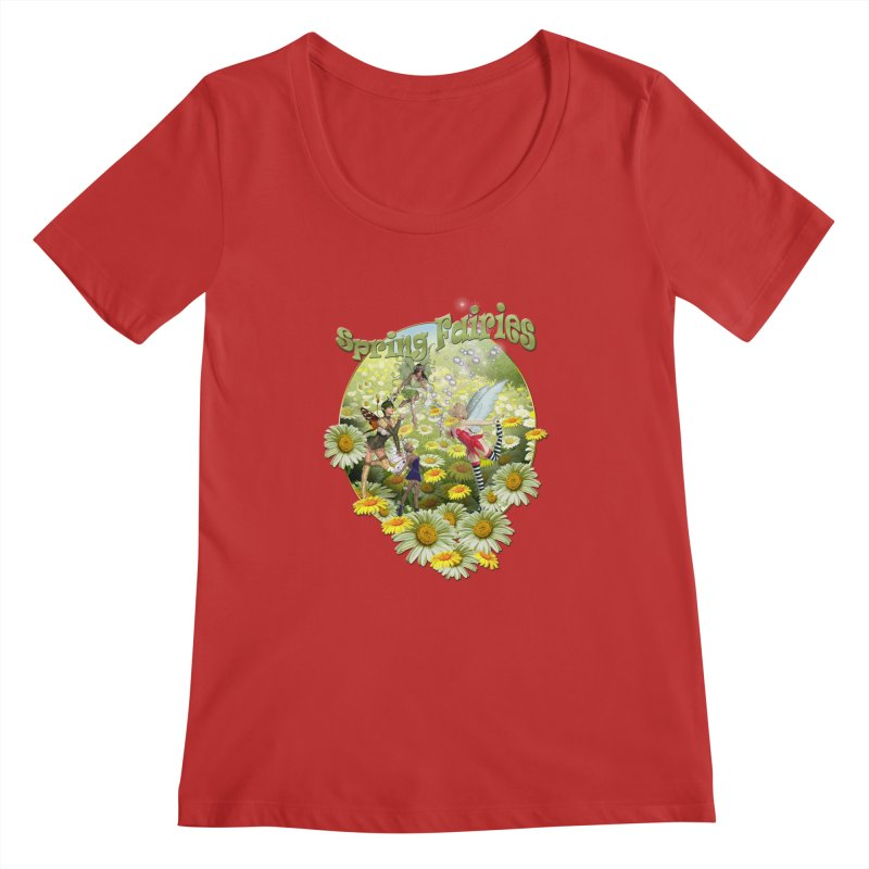 Spring Has Arrived Women's Regular Scoop Neck by NadineMay Artist Shop