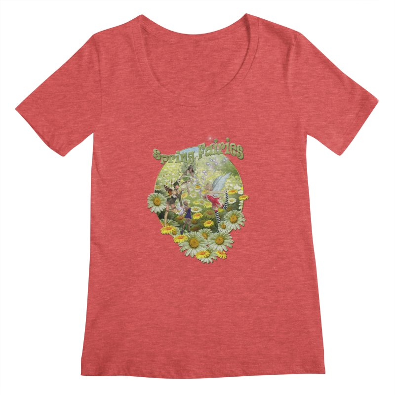Spring Has Arrived Women's Scoopneck by NadineMay Artist Shop