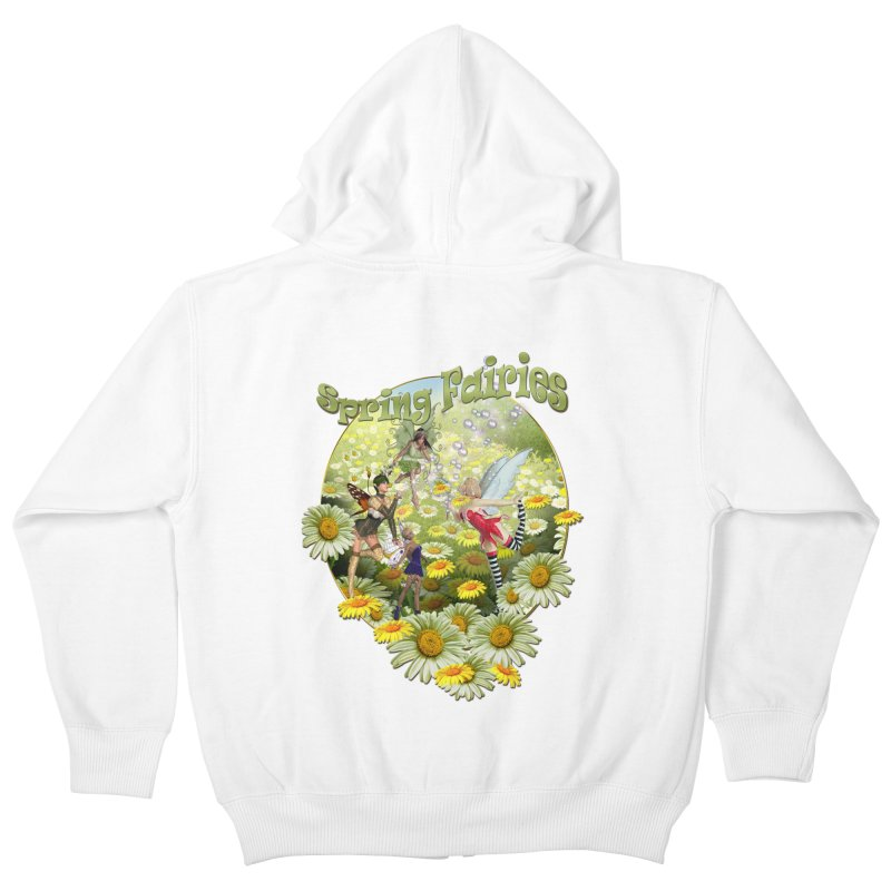 Spring Has Arrived Kids Zip-Up Hoody by justkidding's Artist Shop