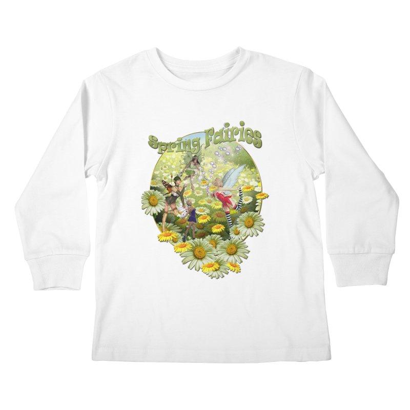 Spring Has Arrived Kids Longsleeve T-Shirt by NadineMay Artist Shop