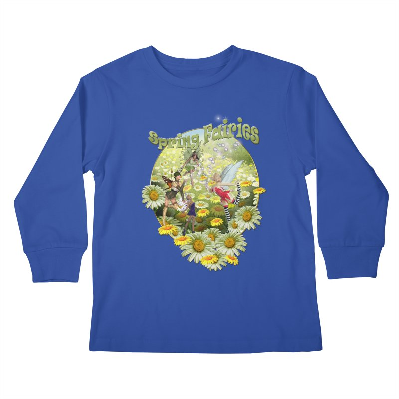 Spring Has Arrived Kids Longsleeve T-Shirt by NadineMay Artist Shop