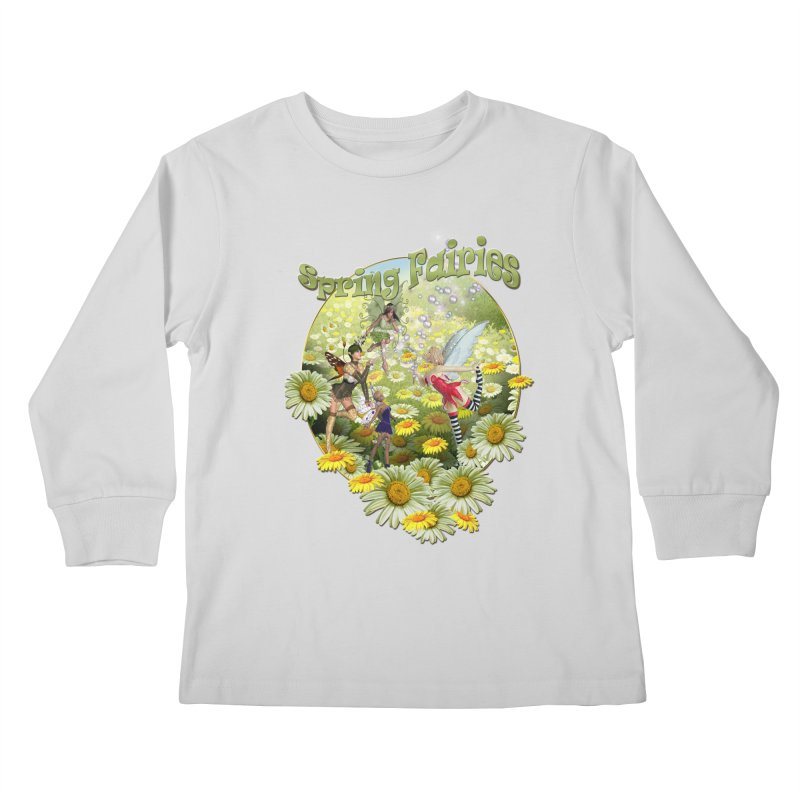 Spring Has Arrived Kids Longsleeve T-Shirt by justkidding's Artist Shop