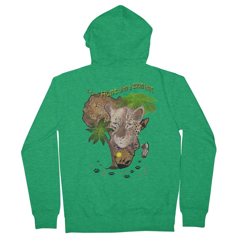 Only hunt with a zoom lens Men's Zip-Up Hoody by NadineMay Artist Shop