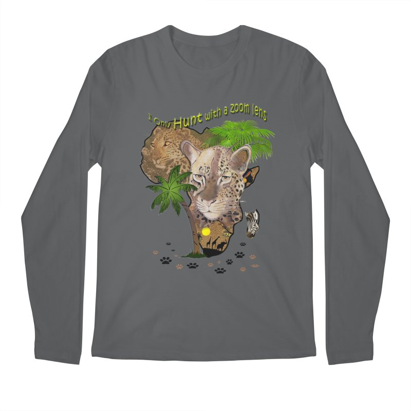 Only hunt with a zoom lens Men's Regular Longsleeve T-Shirt by NadineMay Artist Shop