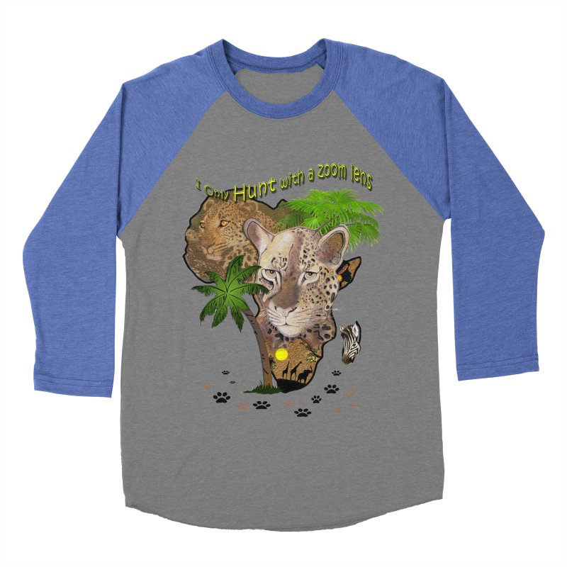 Only hunt with a zoom lens Men's Baseball Triblend Longsleeve T-Shirt by NadineMay Artist Shop