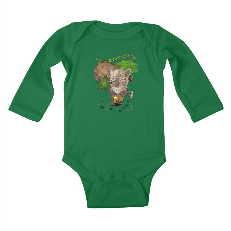 Only hunt with a zoom lens Kids Baby Longsleeve Bodysuit by justkidding's Artist Shop