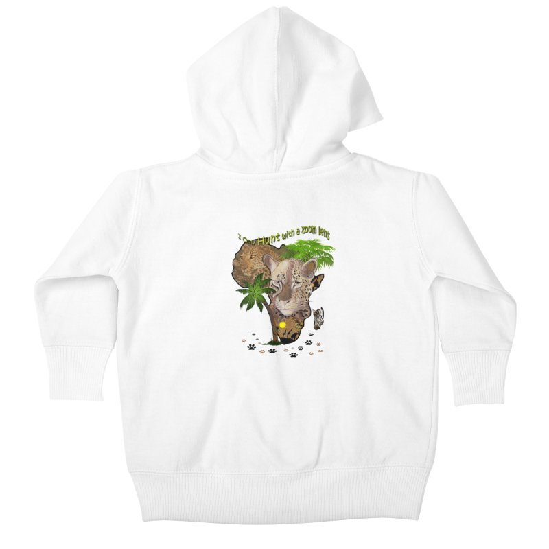 Only hunt with a zoom lens Kids Baby Zip-Up Hoody by NadineMay Artist Shop
