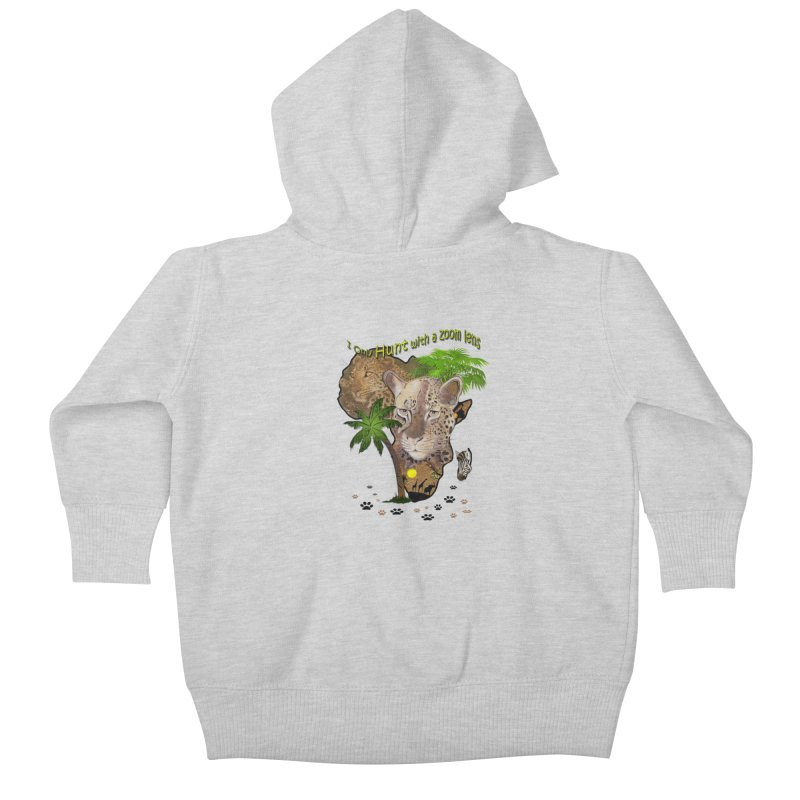 Only hunt with a zoom lens Kids Baby Zip-Up Hoody by justkidding's Artist Shop