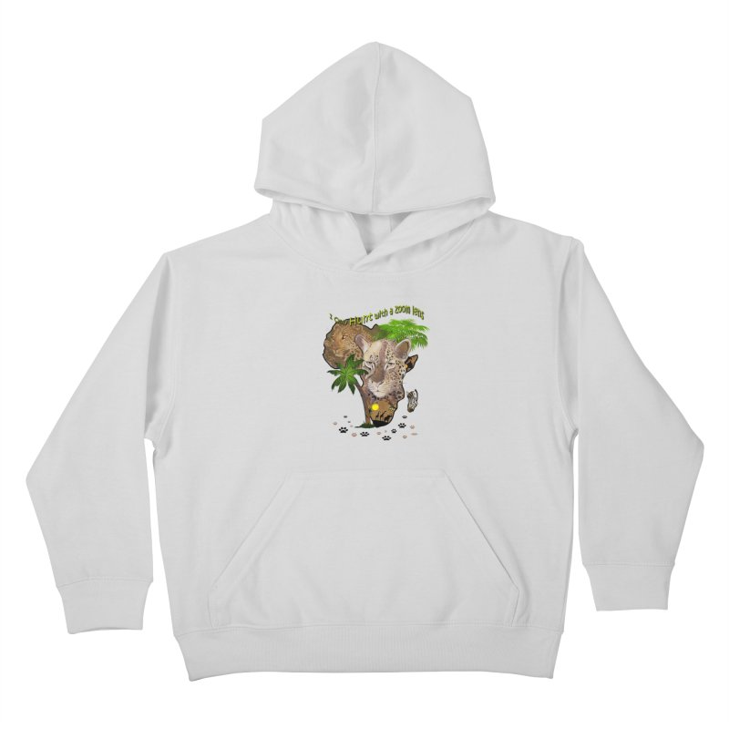 Only hunt with a zoom lens Kids Pullover Hoody by NadineMay Artist Shop