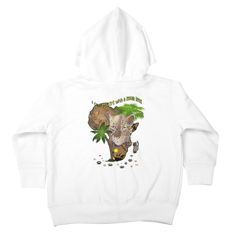 Only hunt with a zoom lens Kids Toddler Zip-Up Hoody by NadineMay Artist Shop