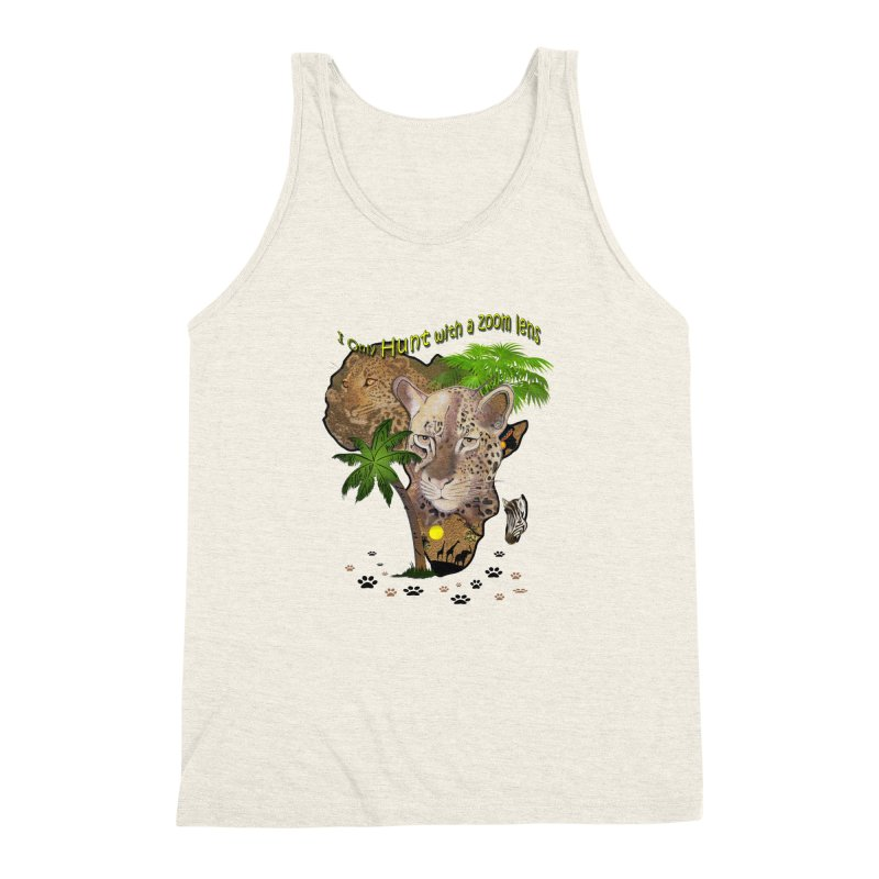 Only hunt with a zoom lens Men's Triblend Tank by NadineMay Artist Shop