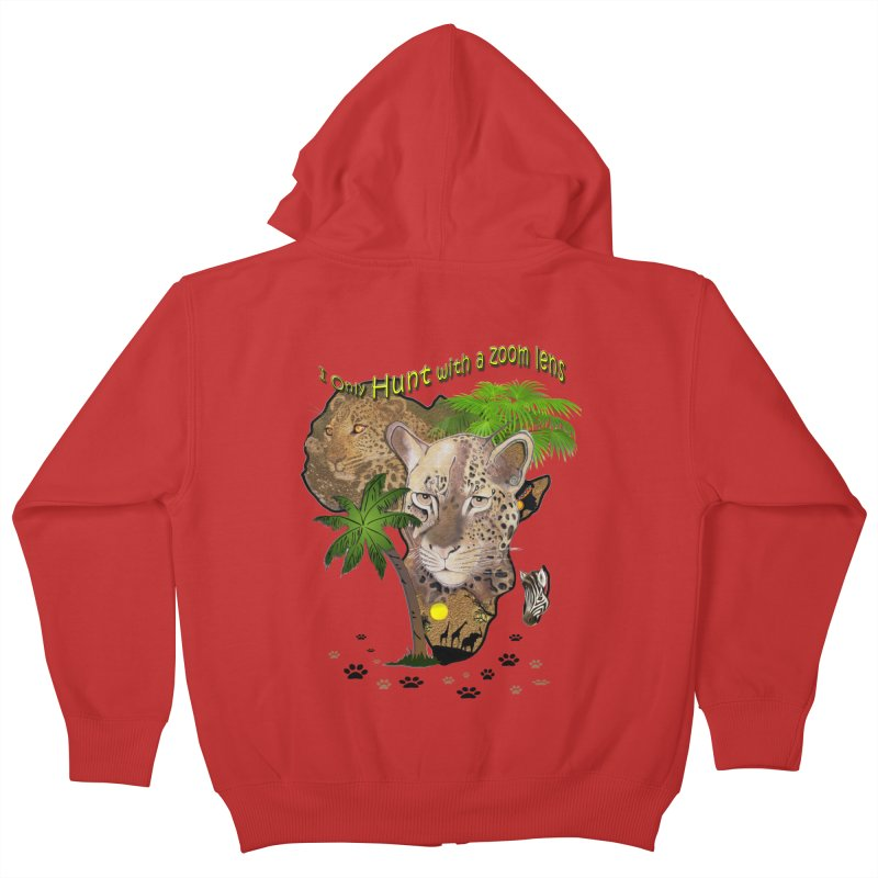 Only hunt with a zoom lens Kids Zip-Up Hoody by NadineMay Artist Shop