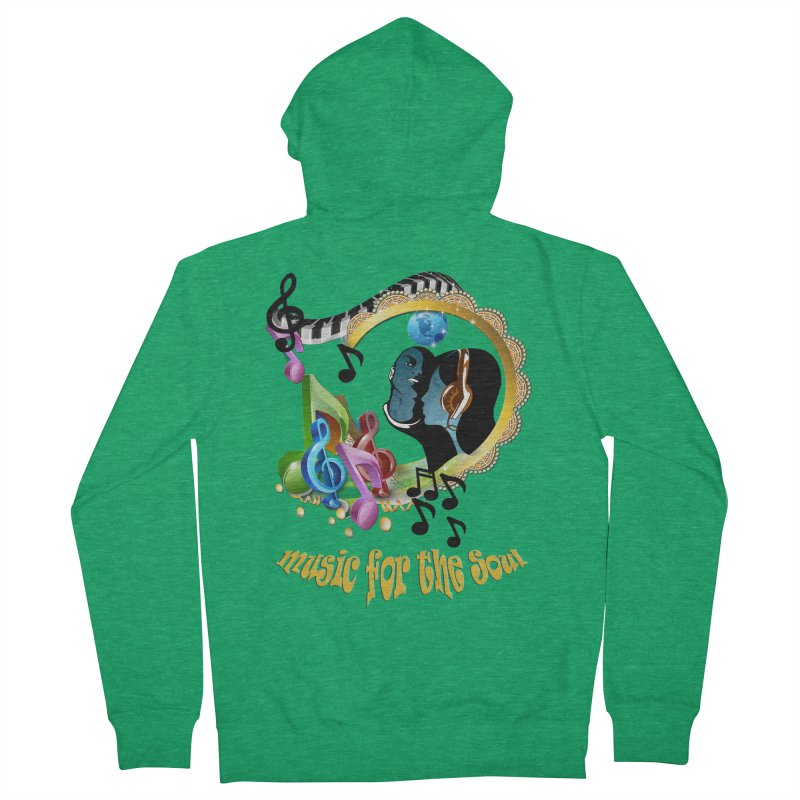 Music for the Soul Men's French Terry Zip-Up Hoody by NadineMay Artist Shop