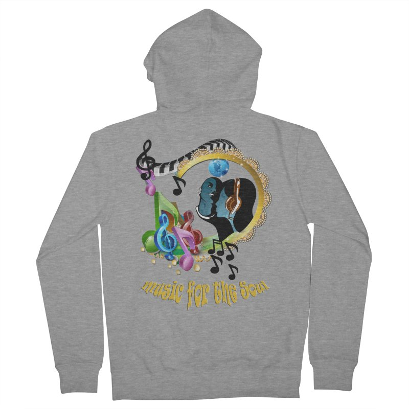 Music for the Soul Men's Zip-Up Hoody by NadineMay Artist Shop