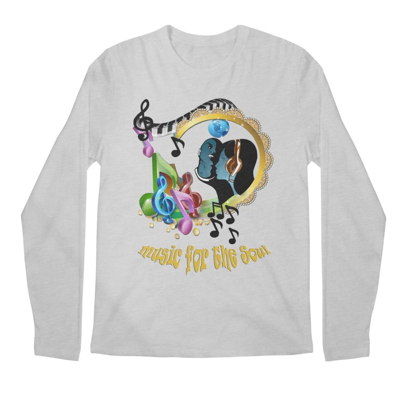 Music for the Soul Men's Regular Longsleeve T-Shirt by NadineMay Artist Shop