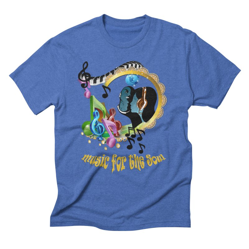 Music for the Soul Men's Triblend T-Shirt by NadineMay Artist Shop
