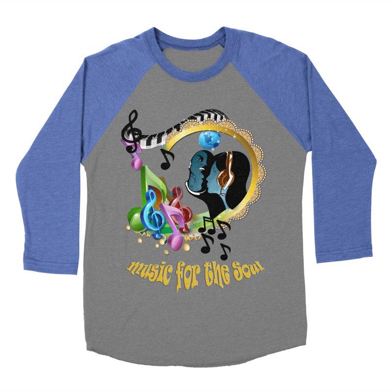 Music for the Soul Women's Baseball Triblend Longsleeve T-Shirt by NadineMay Artist Shop