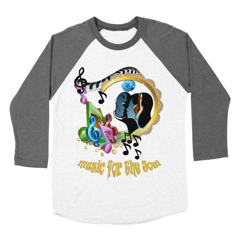 Music for the Soul Men's Baseball Triblend T-Shirt by NadineMay Artist Shop