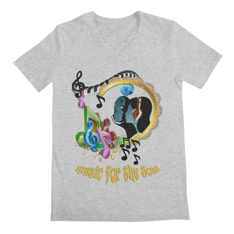 Music for the Soul Men's Regular V-Neck by NadineMay Artist Shop