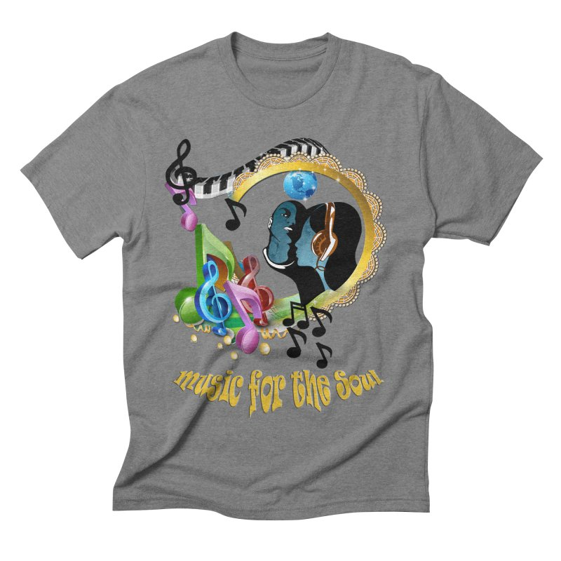 Music for the Soul Men's Triblend T-shirt by justkidding's Artist Shop