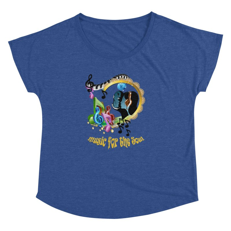 Music for the Soul Women's Dolman Scoop Neck by NadineMay Artist Shop