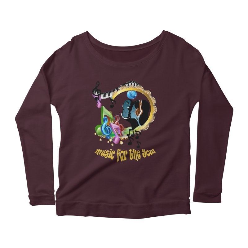 Music for the Soul Women's Scoop Neck Longsleeve T-Shirt by NadineMay Artist Shop