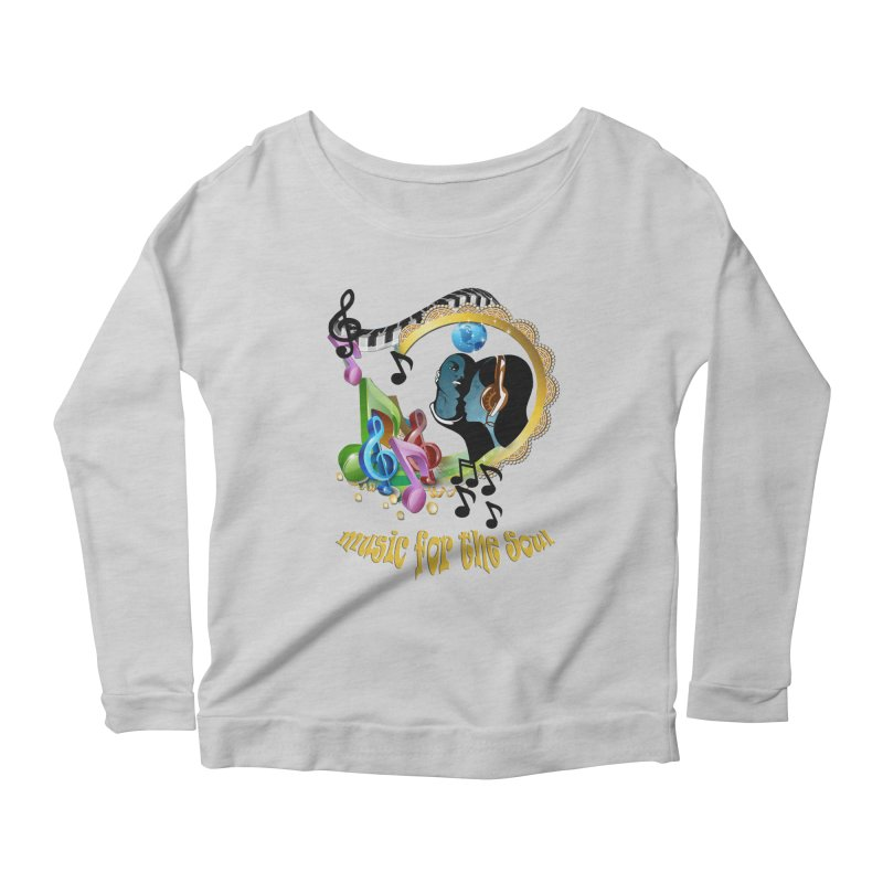 Music for the Soul Women's Longsleeve Scoopneck  by NadineMay Artist Shop