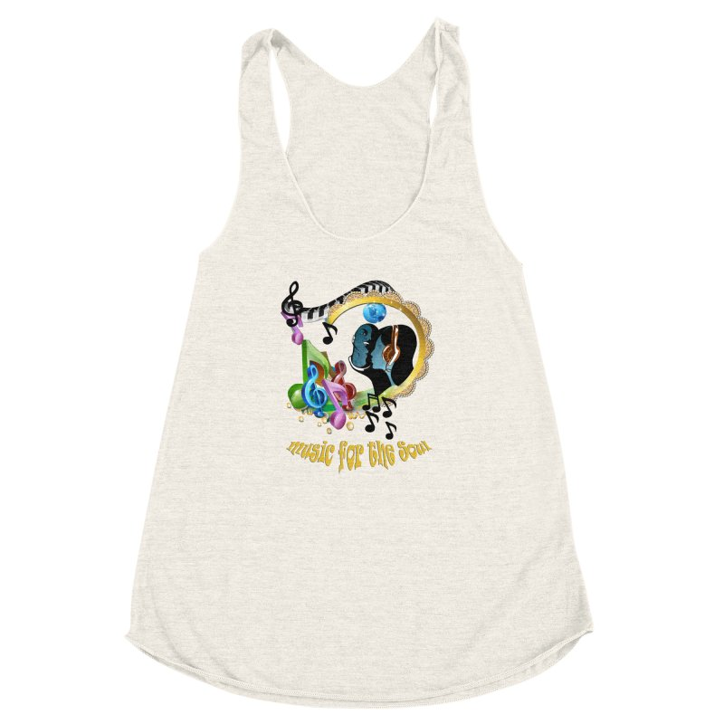 Music for the Soul Women's Racerback Triblend Tank by justkidding's Artist Shop