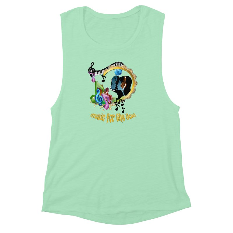 Music for the Soul Women's Muscle Tank by NadineMay Artist Shop