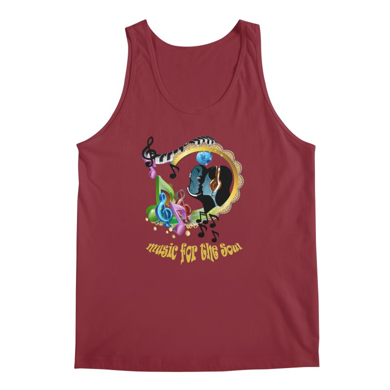 Music for the Soul Men's Tank by justkidding's Artist Shop