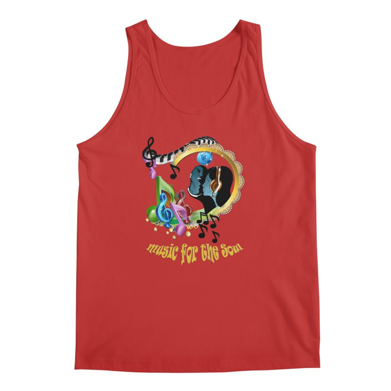 Music for the Soul Men's Tank by NadineMay Artist Shop