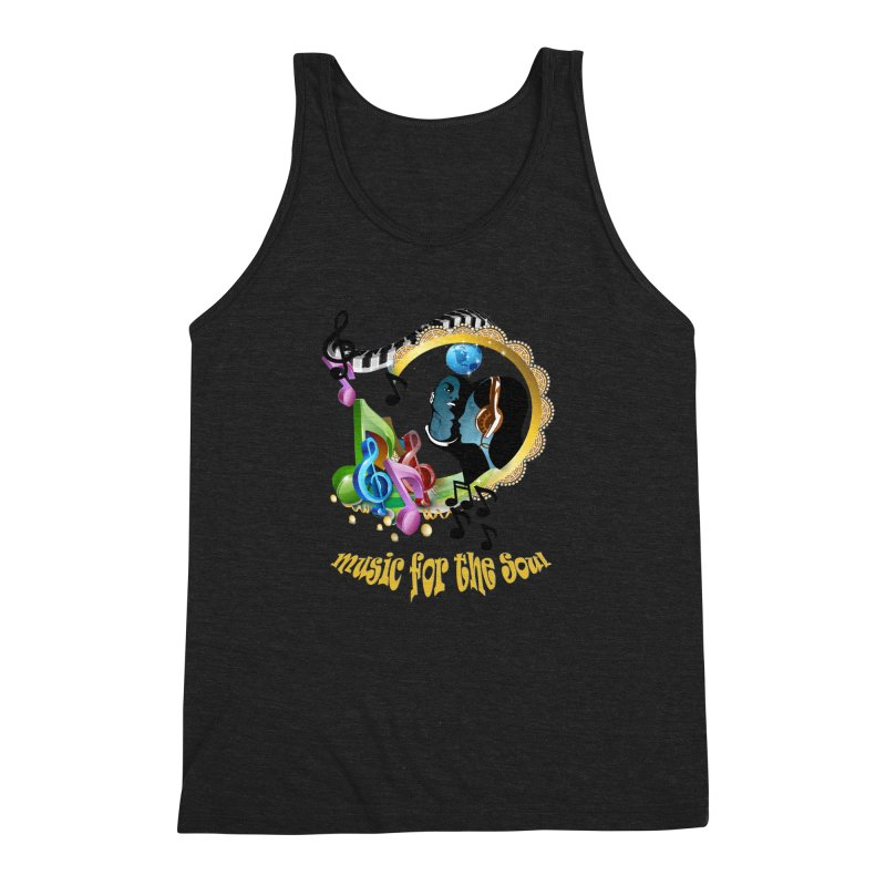 Music for the Soul Men's Triblend Tank by NadineMay Artist Shop