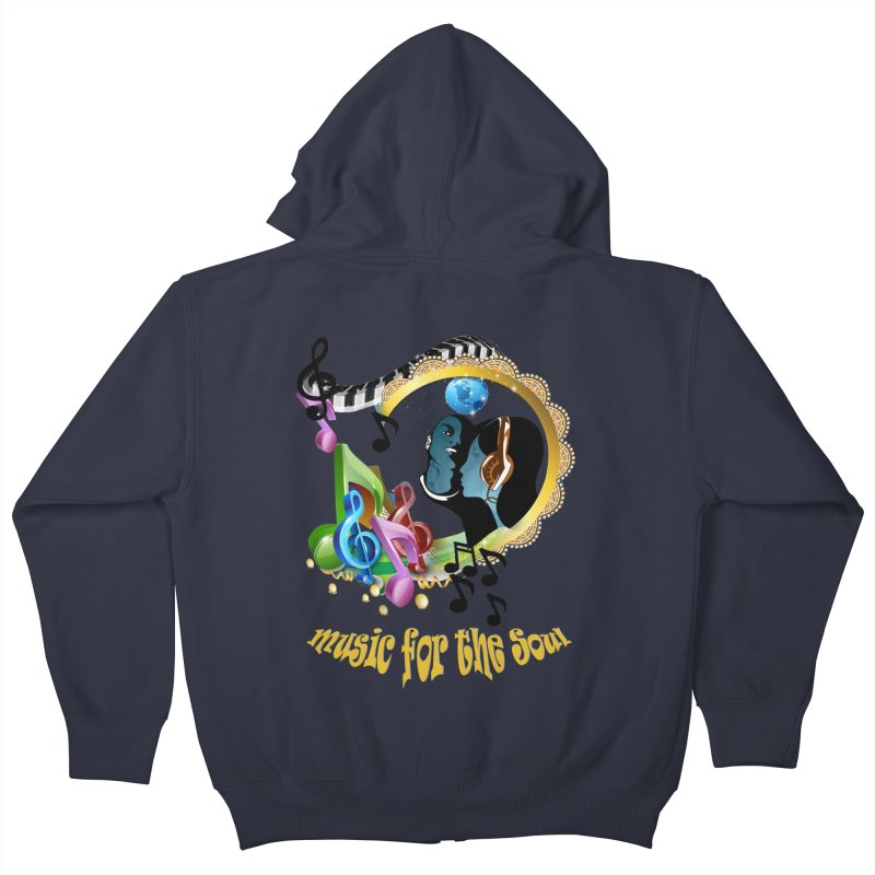Music for the Soul Kids Zip-Up Hoody by NadineMay Artist Shop