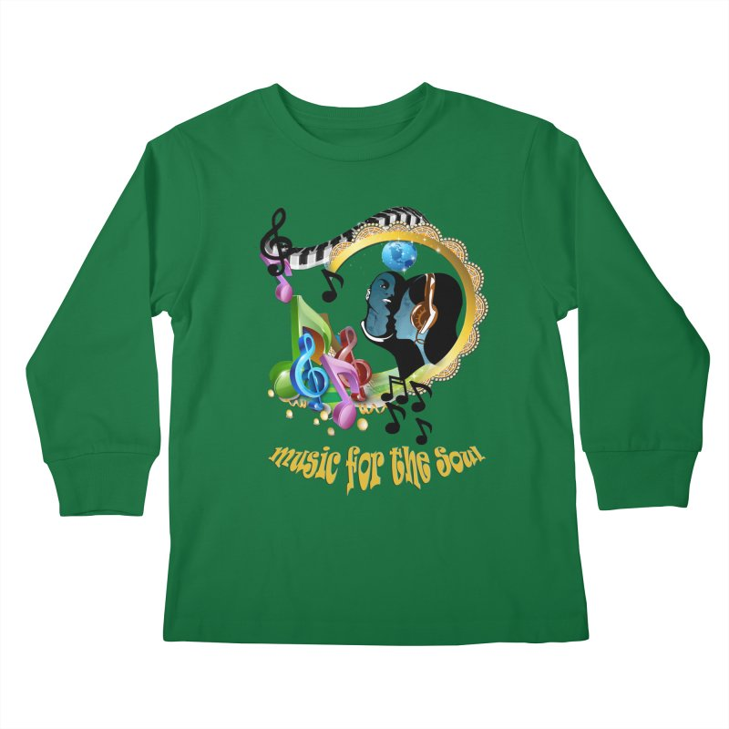 Music for the Soul Kids Longsleeve T-Shirt by NadineMay Artist Shop