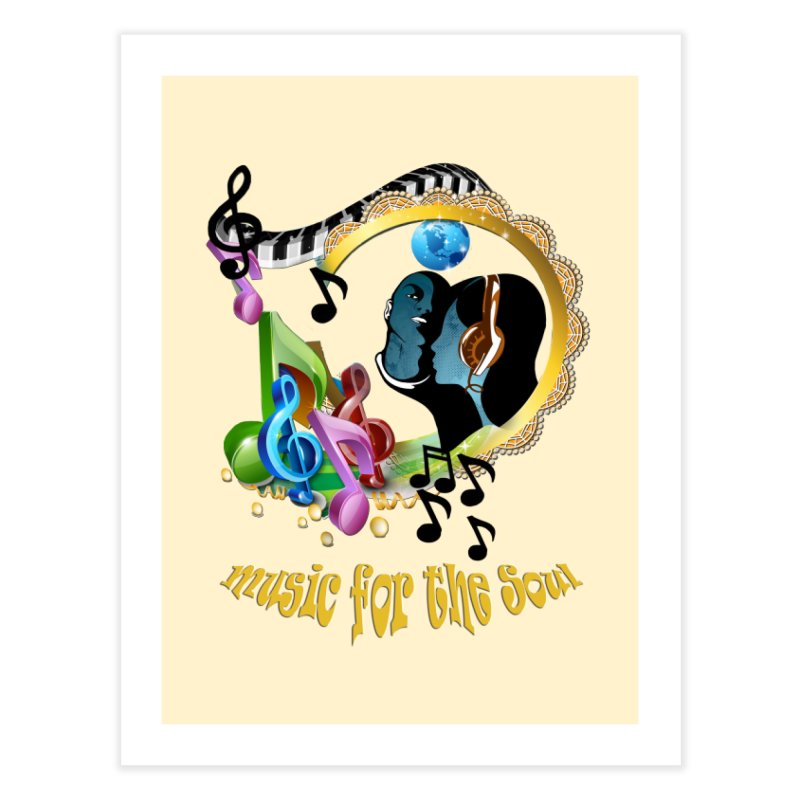 Music for the Soul Home Bath Mat by NadineMay Artist Shop