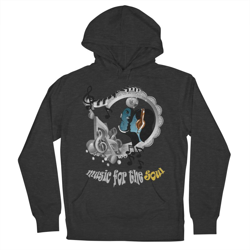 Music for the Soul in grey Women's Pullover Hoody by justkidding's Artist Shop