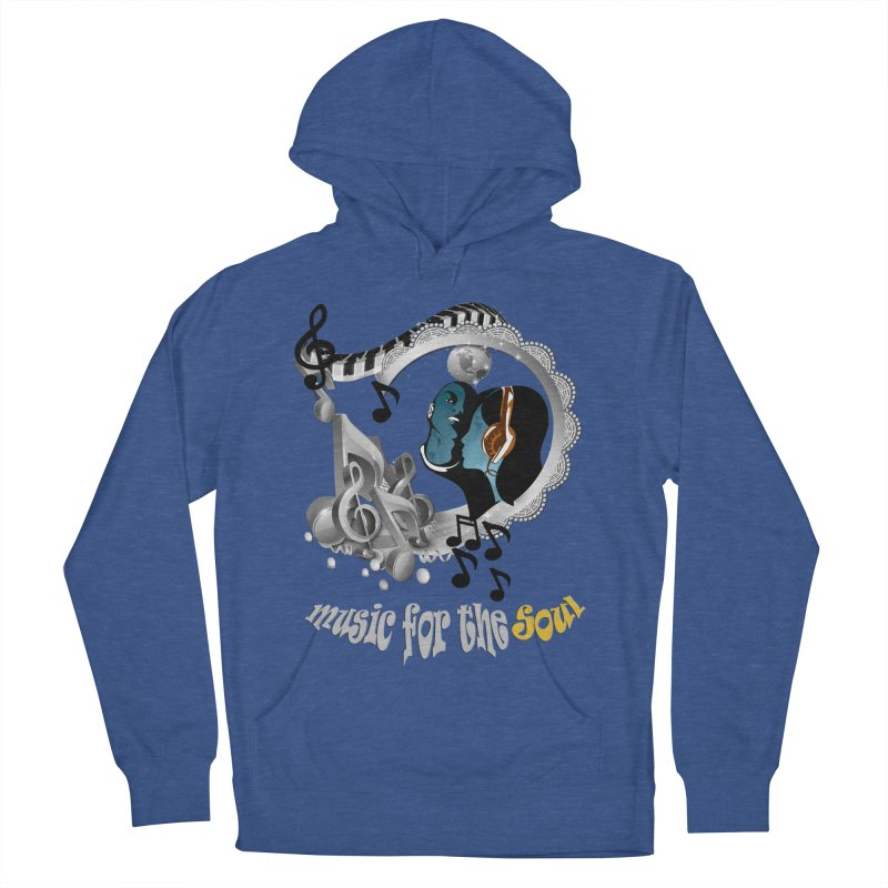 Music for the Soul in grey Women's French Terry Pullover Hoody by NadineMay Artist Shop