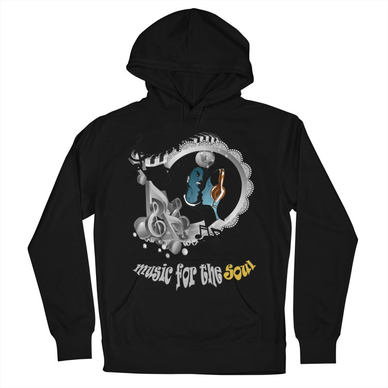 Music for the Soul in grey Women's Pullover Hoody by NadineMay Artist Shop