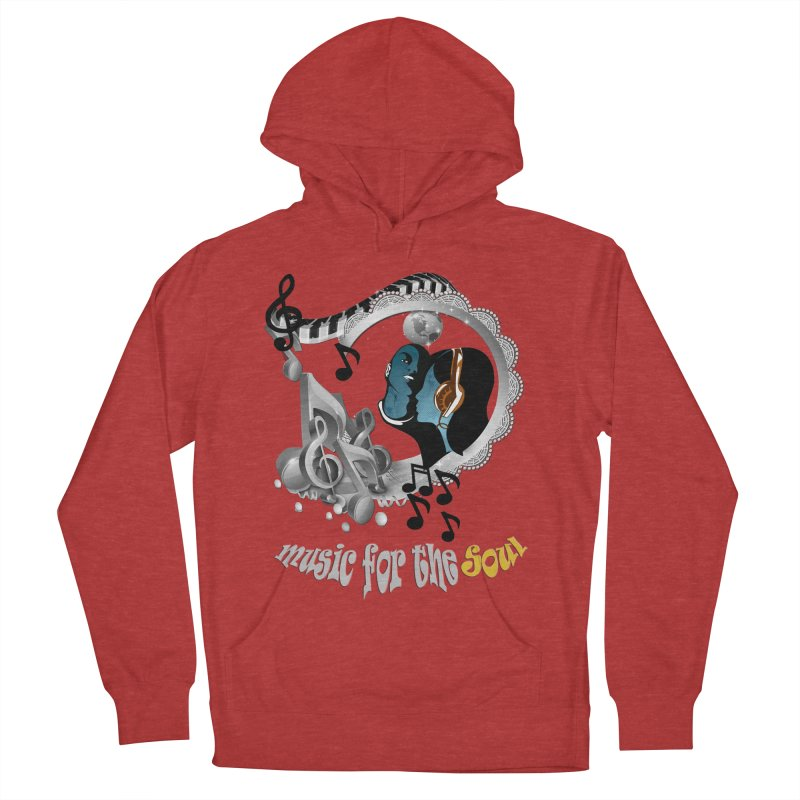 Music for the Soul in grey Men's Pullover Hoody by justkidding's Artist Shop