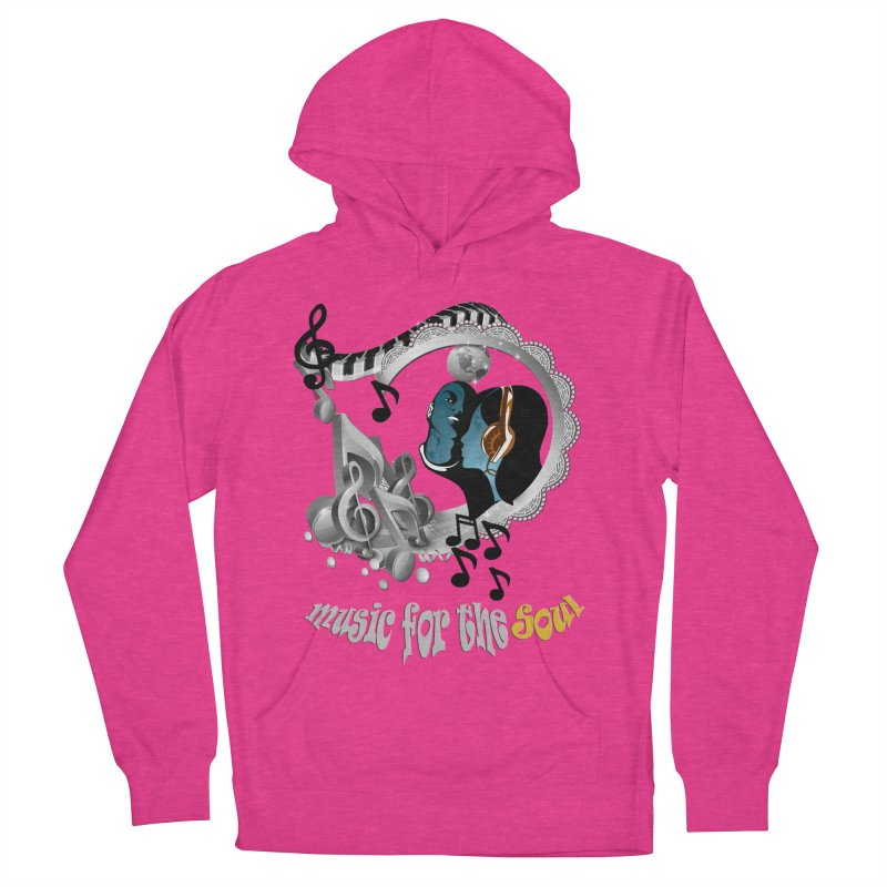 Music for the Soul in grey Men's Pullover Hoody by NadineMay Artist Shop